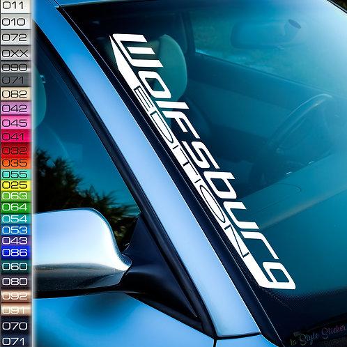 Wolfsburg Edition 2 Frontscheibenaufkleber Tuningsticker Autoaufkleber Uni Farben Sticker Tuningaufkleber Tuningszene