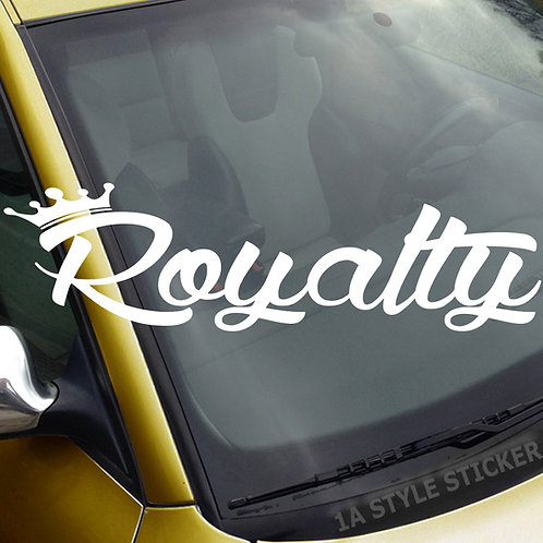 Royalty Frontscheibenaufkleber Tuningsticker Autoaufkleber Uni Farben Sticker Tuningaufkleber Tuningszene