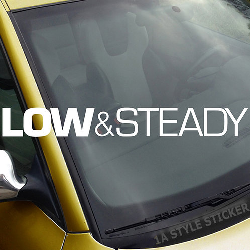 Low & steady Frontscheibenaufkleber Tuningsticker Autoaufkleber Uni Farben Sticker Tuningaufkleber Tuningszene