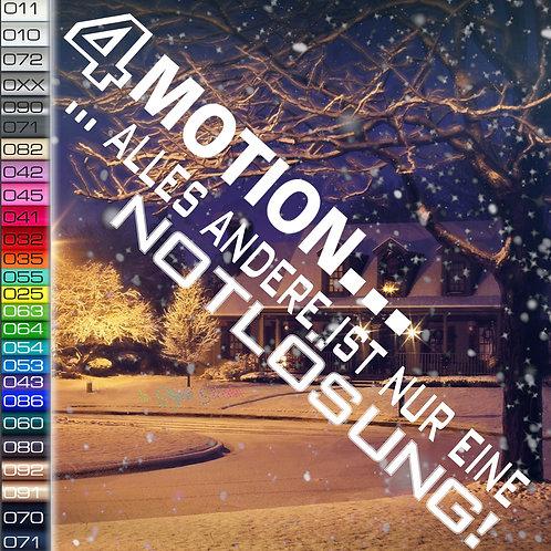 4 Motion... Winterauto Aufkleber Motiv W24