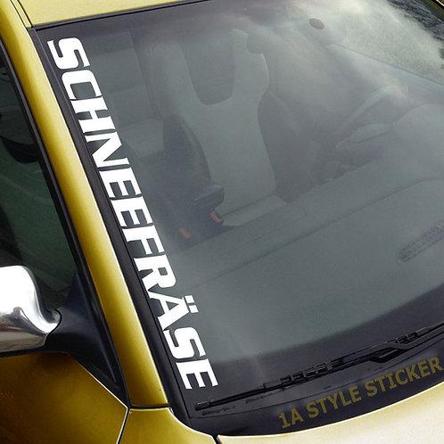 Schneefräse Winterauto Frontscheibenaufkleber Tuningsticker Autoaufkleber Uni Farben Sticker Tuningaufkleber Tuningszene
