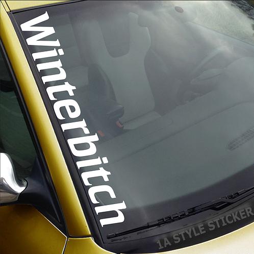 Winterbitch Winterauto Frontscheibenaufkleber Tuningsticker Autoaufkleber Uni Farben Sticker Tuningaufkleber Tuningszene
