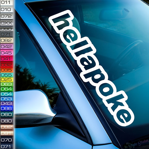 Hellapoke Frontscheibenaufkleber Tuningsticker Autoaufkleber Uni Farben Sticker Tuningaufkleber Tuningszene