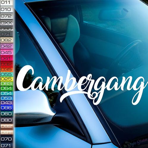 Cambergang Frontscheibenaufkleber Tuningsticker Autoaufkleber Uni Farben Sticker Tuningaufkleber Tuningszene