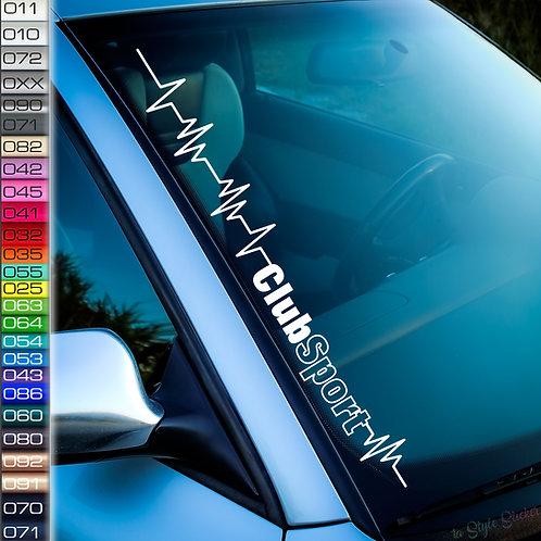 Pulsschlag Club Sport Frontscheibenaufkleber Tuningsticker Autoaufkleber Uni Farben Sticker Tuningaufkleber Tuningszene