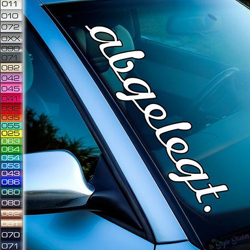 Abgelegt Frontscheibenaufkleber Tuningsticker Autoaufkleber Uni Farben Sticker Tuningaufkleber Tuningszene