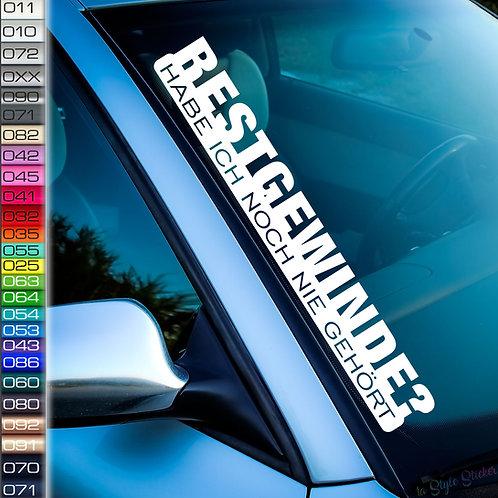 Restgewinde? Noch nie gehörtFrontscheibenaufkleber Tuningsticker Autoaufkleber Uni Farben Sticker Tuningaufkleber Tuningszene