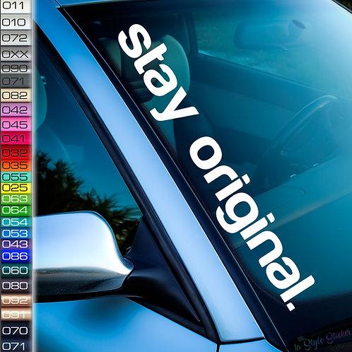 stay original Frontscheibenaufkleber Tuningsticker Autoaufkleber Uni Farben Sticker Tuningaufkleber Tuningszene