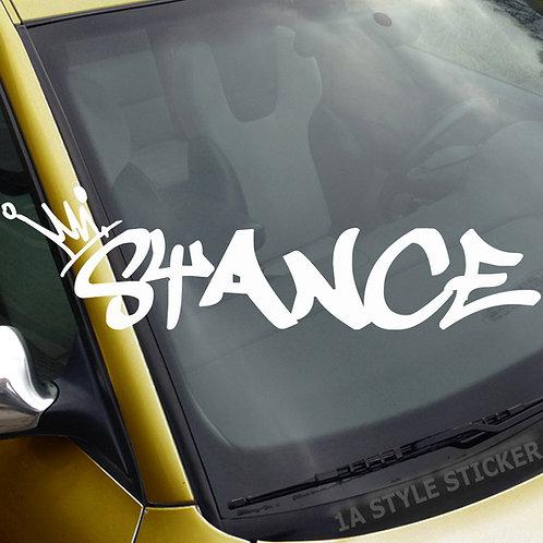 Stance Frontscheibenaufkleber Tuningsticker Autoaufkleber Uni Farben Sticker Tuningaufkleber Tuningszene