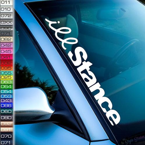 ill Stance Frontscheibenaufkleber Tuningsticker Autoaufkleber Uni Farben Sticker Tuningaufkleber Tuningszene