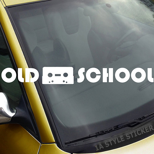Old School Frontscheibenaufkleber Tuningsticker Autoaufkleber Uni Farben Sticker Tuningaufkleber Tuningszene