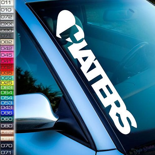 Herz Haters Frontscheibenaufkleber Tuningsticker Autoaufkleber Uni Farben Sticker Tuningaufkleber Tuningszene
