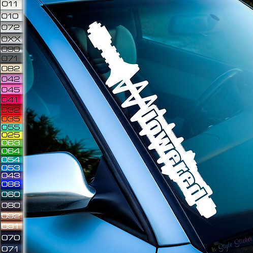 Fahrwerk lowered Frontscheibenaufkleber Tuningsticker Autoaufkleber Uni Farben Sticker Tuningaufkleber Tuningszenenaufkleber