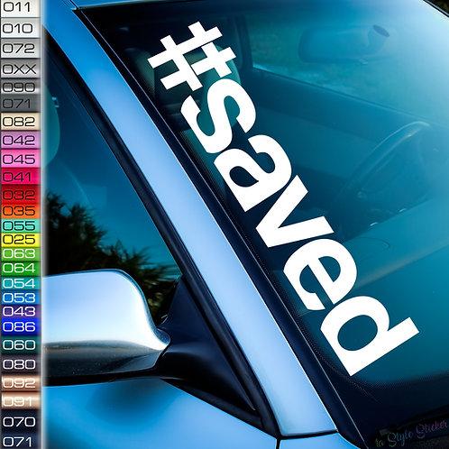 #saved Frontscheibenaufkleber Tuningsticker Autoaufkleber Uni Farben Sticker Tuningaufkleber Tuningszenenaufkleber