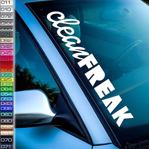 Clean Freak Frontscheibenaufkleber Tuningsticker Autoaufkleber Uni Farben Sticker Tuningaufkleber Tuningszene