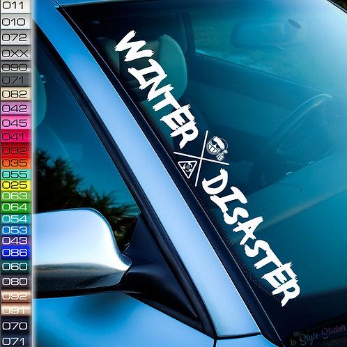 Winter Disaster Frontscheibenaufkleber Tuningsticker Autoaufkleber Uni Farben Sticker Tuningaufkleber Tuningszenenaufkleber
