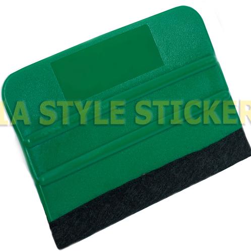 Verklebe Rakel mit Filz Verklebehilfe - Werkzeug Grün = Hart