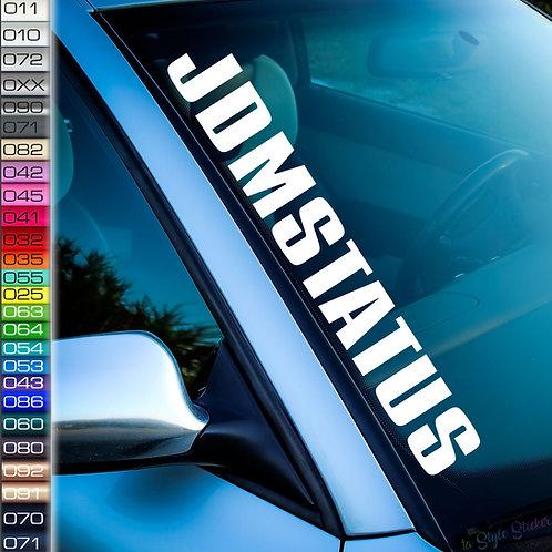 JDM Status Frontscheibenaufkleber Tuningsticker Autoaufkleber Uni Farben Sticker Tuningaufkleber Tuningszene