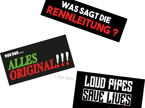 Aufkleber Set Alles Original, Rennleitung, Loud Pipes Sticker