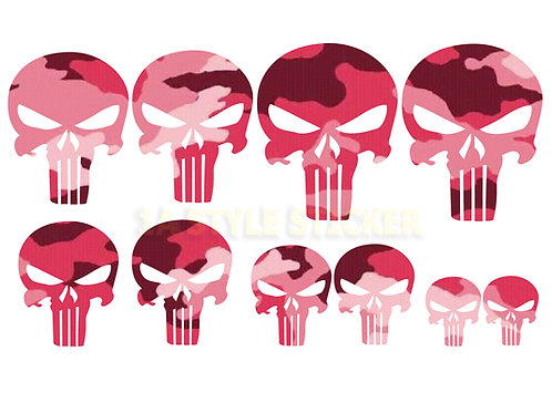10 x The Punisher Sticker Tarnlook Decal skull Schädel Rocker Lady Girl Pin-Up
