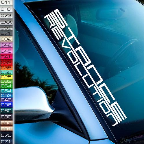 Stance Revolution Frontscheibenaufkleber Tuningsticker Autoaufkleber Uni Farben Sticker Tuningaufkleber Tuningszene