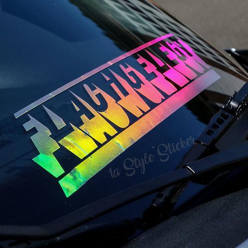 Flachgelegt Tuningsticker Autoaufkleber Hologramm Frontscheibenaufkleber Holographic Effekt