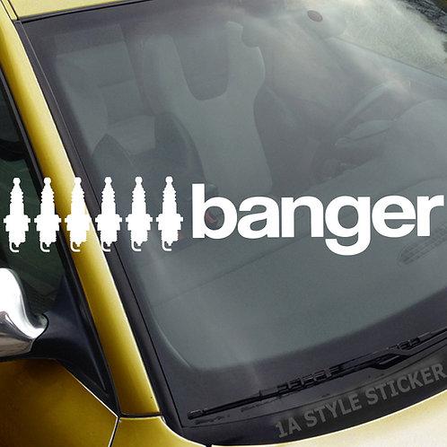 6 Banger 6 Zylinder Frontscheibenaufkleber Tuningsticker Autoaufkleber Uni Farben Sticker Tuningaufkleber Tuningszene