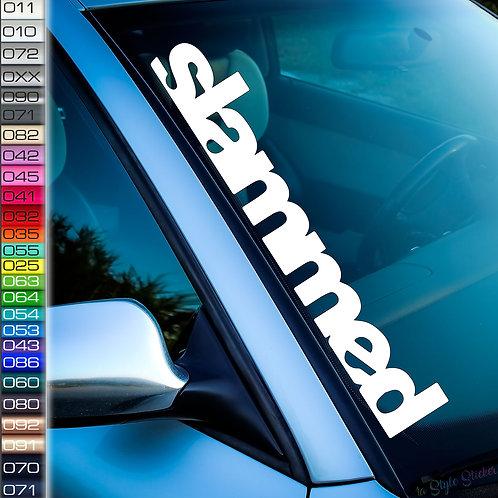 Slammed Frontscheibenaufkleber Tuningsticker Autoaufkleber Uni Farben Sticker Tuningaufkleber Tuningszene