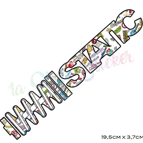 Static Auto Aufkleber 🏁 Stickerbomb Klassiker5