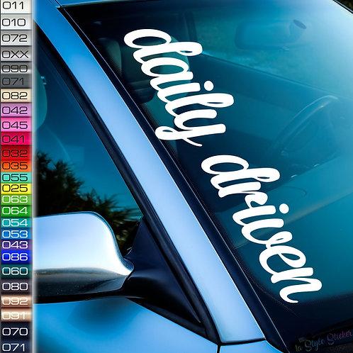 Daily Driven Frontscheibenaufkleber Tuningsticker Autoaufkleber Uni Farben Sticker Tuningaufkleber Tuningszene