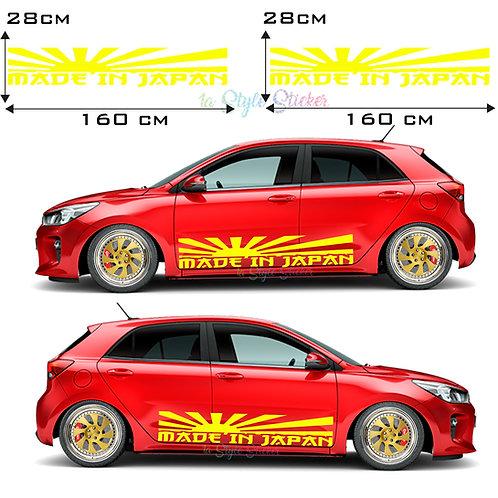 Auto Seitenaufkleber JDM Made in Japan Set Gesamtansicht