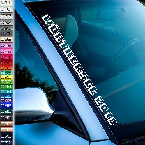 Wörthersee 2018 Frontscheibenaufkleber Tuningsticker Autoaufkleber Uni Farben Sticker Tuningaufkleber Tuningszene