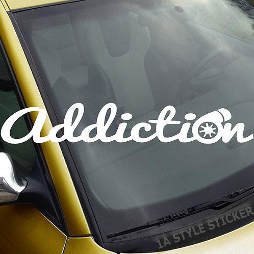 addiction Turbo Frontscheibenaufkleber Tuningsticker Autoaufkleber Uni Farben Sticker Tuningaufkleber Tuningszene