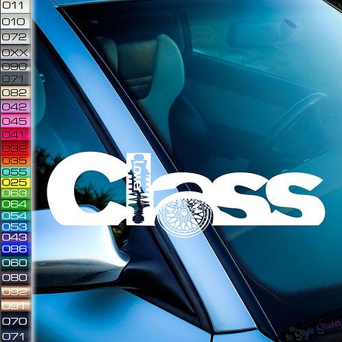 Lower Class Frontscheibenaufkleber Tuningsticker Autoaufkleber Uni Farben Sticker Tuningaufkleber Tuningszene