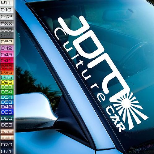 Frontscheibenaufkleber JDM Culture Car Japan Sonne Fahne