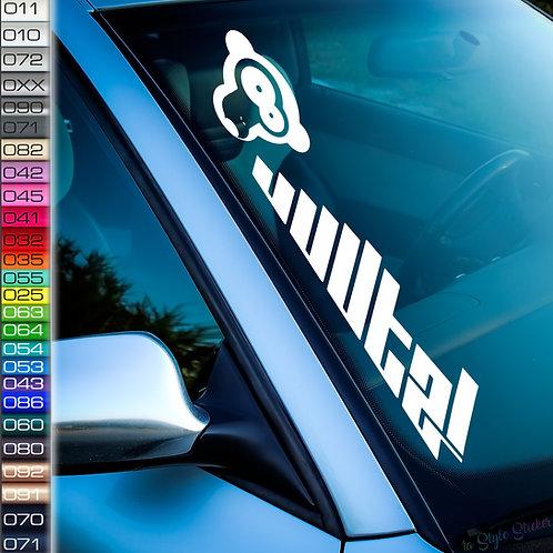 Affe uuuta! Frontscheibenaufkleber Tuningsticker Autoaufkleber Uni Farben Sticker Tuningaufkleber Tuningszene