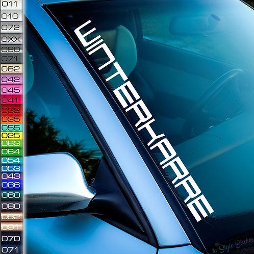 Winterkarre Frontscheibenaufkleber Tuningsticker Autoaufkleber Uni Farben Sticker Tuningaufkleber Tuningszene