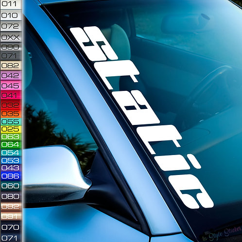 static dick Frontscheibenaufkleber Tuningsticker Autoaufkleber Uni Farben Sticker Tuningaufkleber Tuningszene