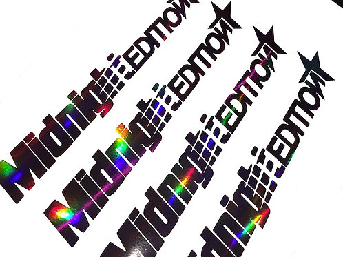 Midnight Edition Schwarz Blau Silber Rot Tuningsticker Hologramm Frontscheibenaufkleber Holographic Effekt Farbwechsel