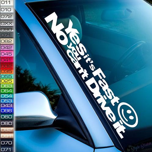 Yes Fast Frontscheibenaufkleber Tuningsticker Autoaufkleber Uni Farben Sticker Tuningaufkleber Tuningszene
