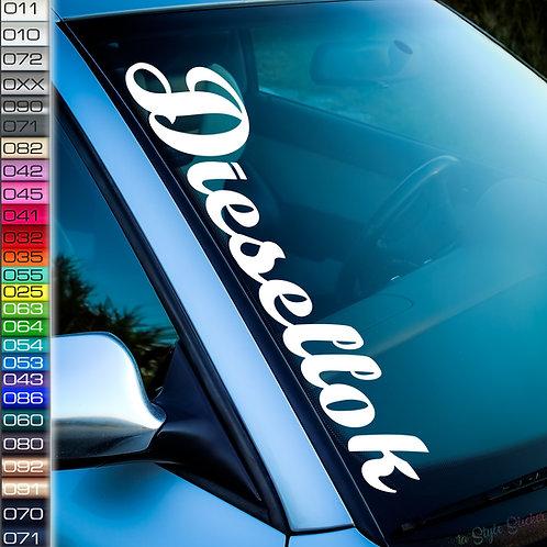 Diesellok Frontscheibenaufkleber Tuningsticker Autoaufkleber Uni Farben Sticker Tuningaufkleber Tuningszene