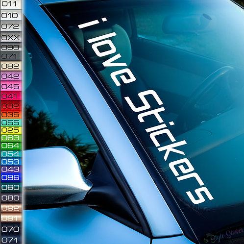 I Love Sticker Frontscheibenaufkleber Tuningsticker Autoaufkleber Uni Farben Sticker Tuningaufkleber Tuningszene