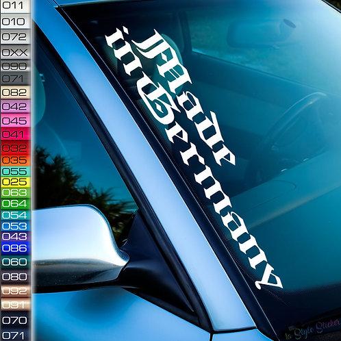 Made in Germany Frontscheibenaufkleber Tuningsticker Autoaufkleber Uni Farben Sticker Tuningaufkleber Tuningszene