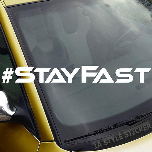 #Stayfast Frontscheibenaufkleber Tuningsticker Autoaufkleber Uni Farben Sticker Tuningaufkleber Tuningszene