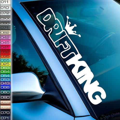 Drift King Racing Frontscheibenaufkleber Tuningsticker Autoaufkleber Uni Farben Sticker Tuningaufkleber Tuningszene