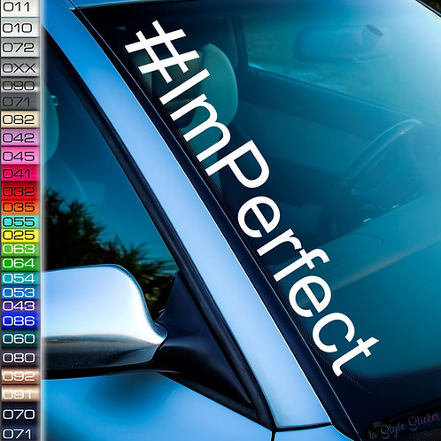 #ImPerfect Frontscheibenaufkleber Tuningsticker Autoaufkleber Uni Farben Sticker Tuningaufkleber Tuningszenenaufkleber