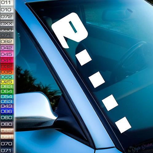Pacman Frontscheibenaufkleber Tuningsticker Autoaufkleber Uni Farben Sticker Tuningaufkleber Tuningszene