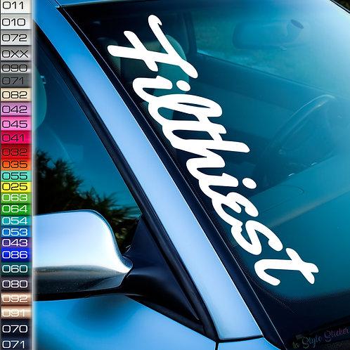 Filthiest Frontscheibenaufkleber Tuningsticker Autoaufkleber Uni Farben Sticker Tuningaufkleber Tuningszene