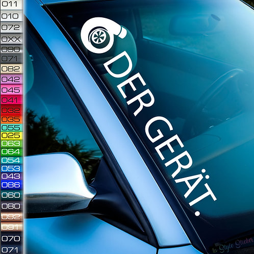Turbo Der Gerät Frontscheibenaufkleber Tuningsticker Autoaufkleber Uni Farben Sticker Tuningaufkleber Tuningszene
