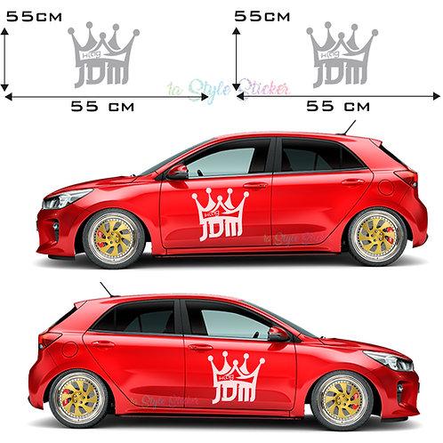 Auto Seitenaufkleber JDM KRONE Gesamtansicht